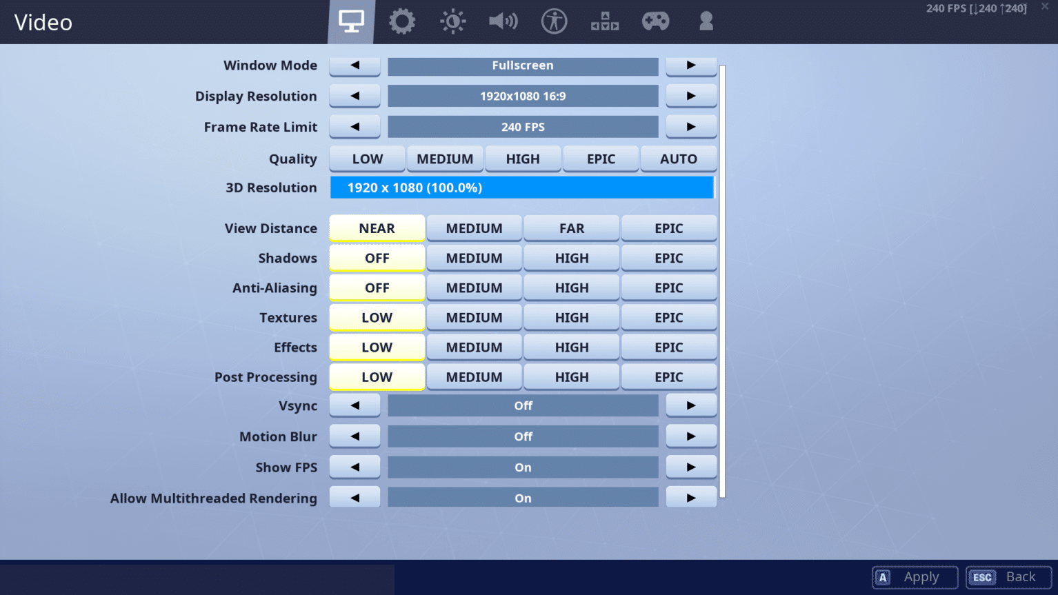 Fortnite Best Settings Options Guide Prosettingsnet