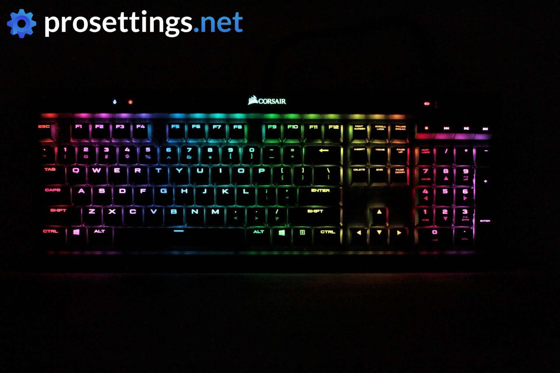 Corsair K70 RGB Mk 2 Low Profile Review | ProSettings net