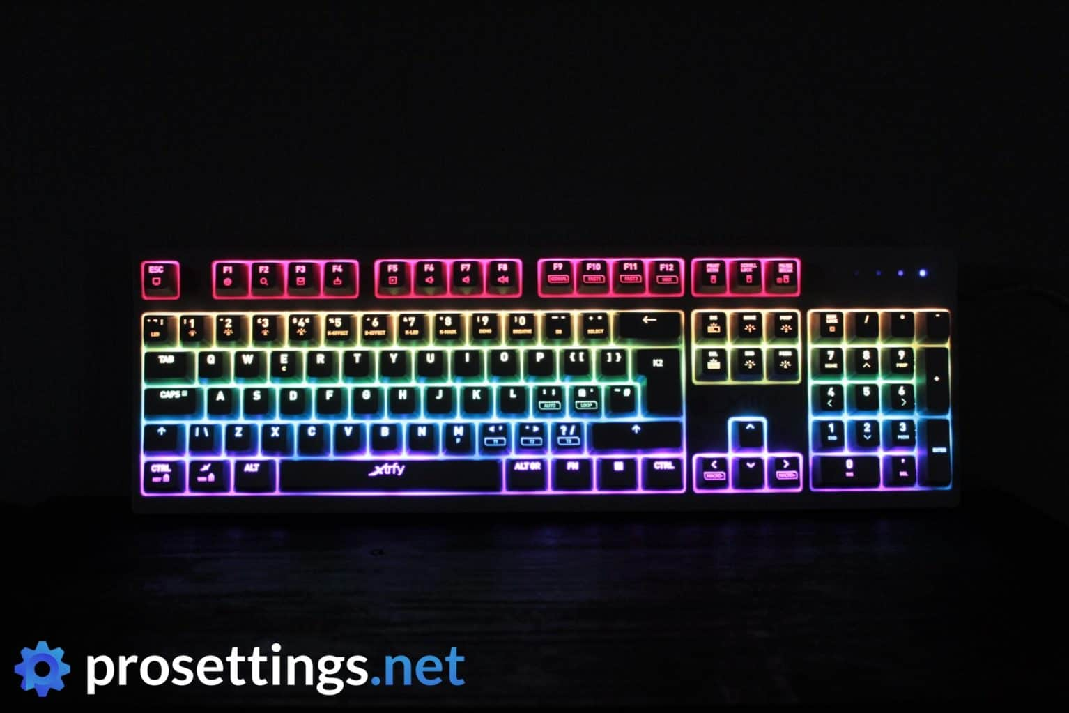 Xtrfy K2-RGB Keyboard Review Lighting