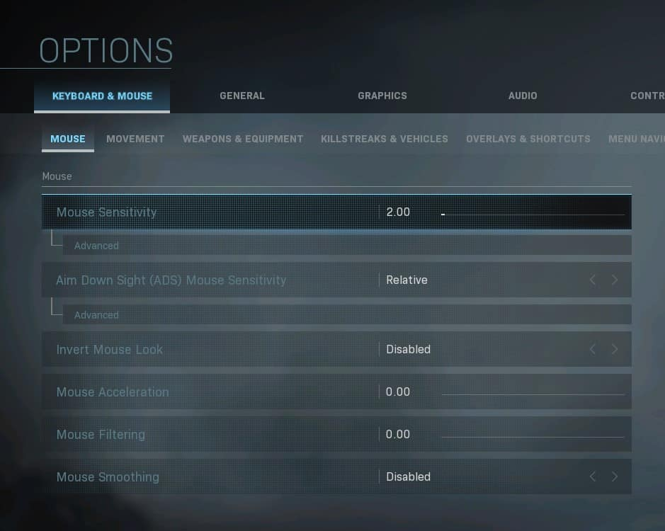 Best Settings for CoD Warzone